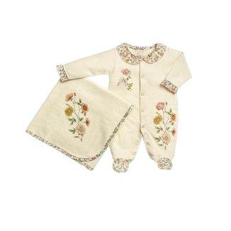 Saída Maternidade Bebê Anjos Baby em Suedine de Florzinhas Feminino