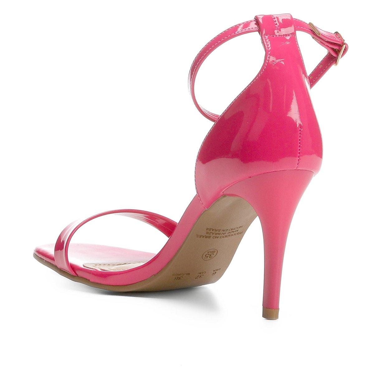 Sandália Bico Pink Quadrado Ala Verniz Ala Fino Bico Feminina Feminina Salto Pink Fino Salto Quadrado Sandália Sandália Verniz Awq688