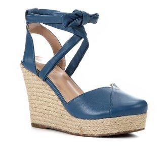 Sandália Anabela Shoestock Corda Tiras Feminina