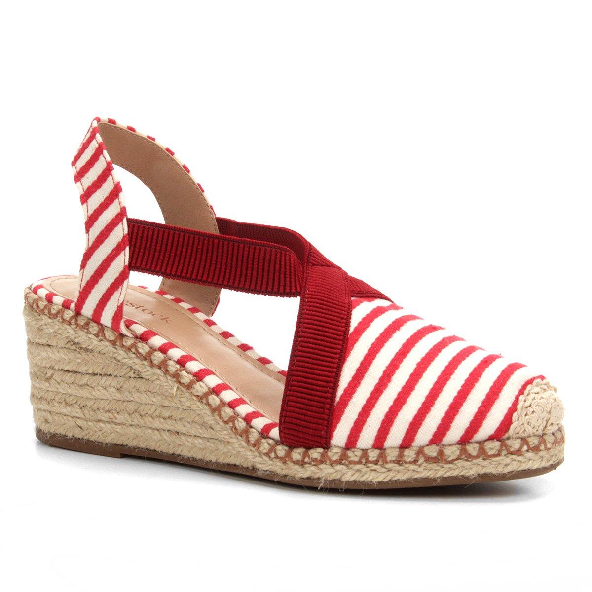 aa6bc9f92 Menor preço em Sandália Anabela Shoestock Elástico Corda Feminina - Vermelho