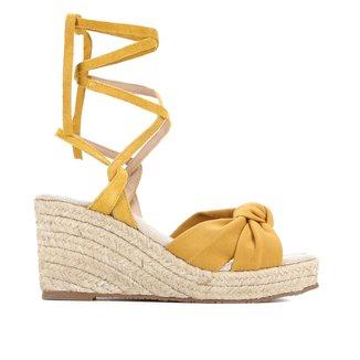 Sandália Anabela Shoestock Espadrille Nó Feminina