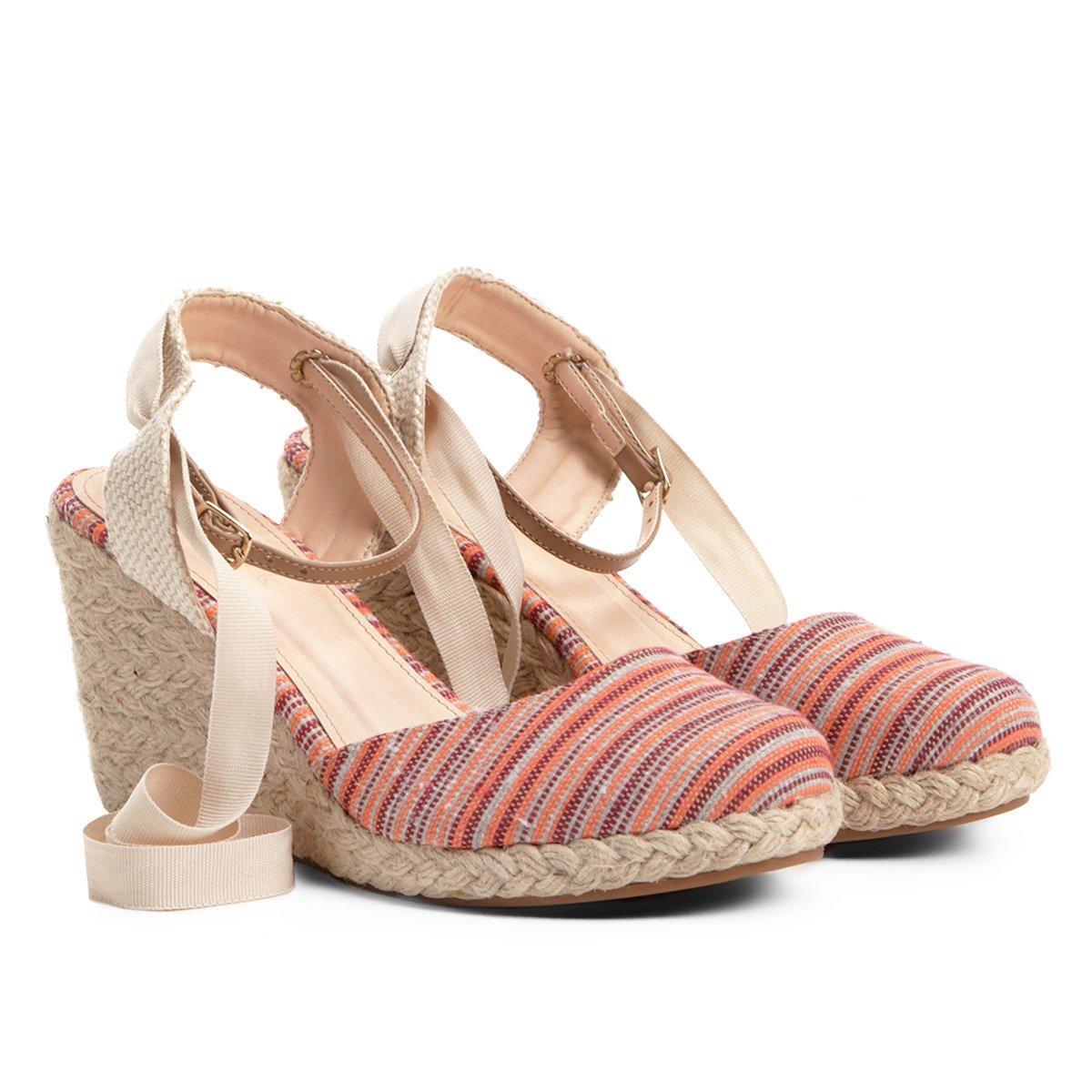 Sandália Sandália Feminina Anabela Laranja Listrada Anabela Anabela Shoestock Feminina Laranja Sandália Listrada Shoestock tnCqXAPx0