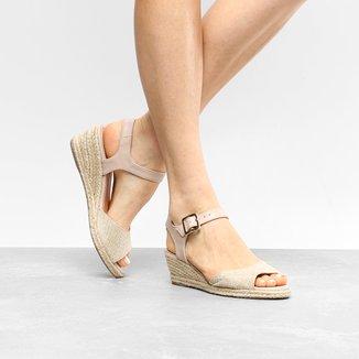 Sandália Anabela Shoestock Salto Baixo Espadrille Feminina