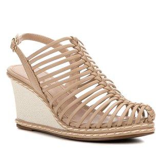 Sandália Anabela Shoestock Tiras Finas Feminina