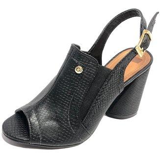Sandália Ankle Boot Cia do Porto Cobra Feminina