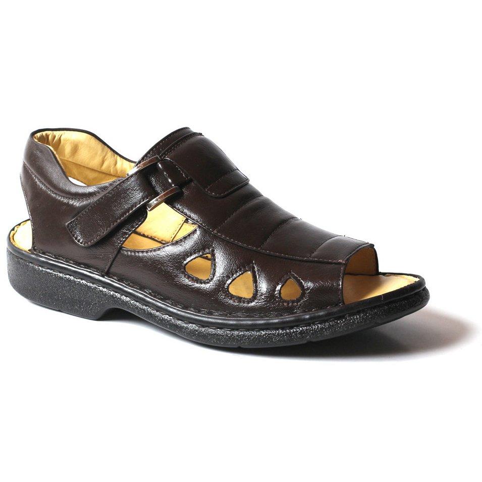 7053666b52 Sandalia Anti Tensor Bico Aberto Confort Couro - Marrom - Compre Agora