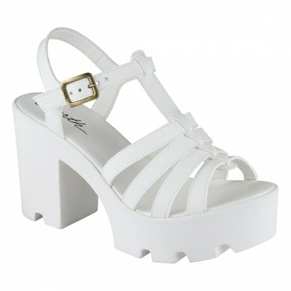 Sandalia Barth Shoes Misty Branco-Feminino