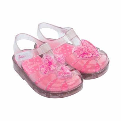 Sandália Bebê Barbie Love Cristal Grendene Feminina-Feminino