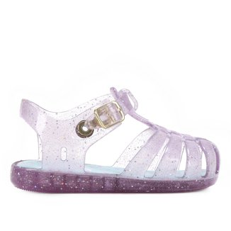 Sandália Bebê Pimpolho Colore Glitter Feminina