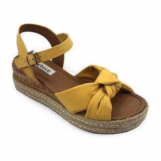 Sandália Bebecê T4022-344 Napa Confy Amarelo Claro Feminino