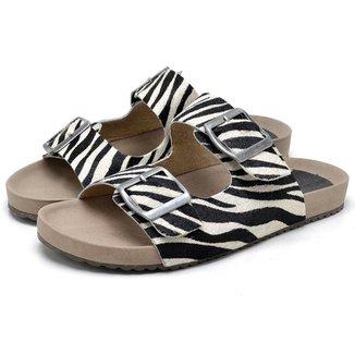 Sandália Birken Papete Modern Estampa Zebra Feminina DUBUY 2035AB