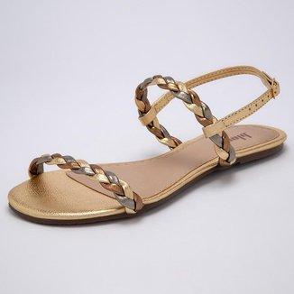 Sandália Bloom Trança Dourada