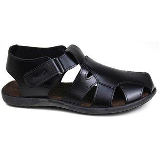Sandalia casual masculina em couro