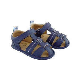 Sandália Catz Calçados Infantil Couro Joe Pesponto