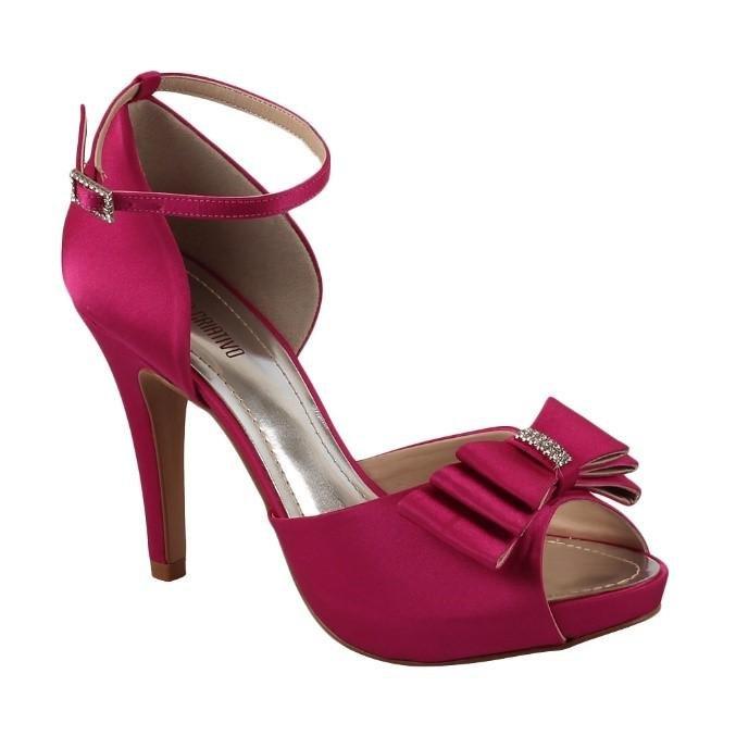 E Criativo Sandália Laço Com Exclusiva Pink Com Sandália Strass Spaço 0nqItEwwd6