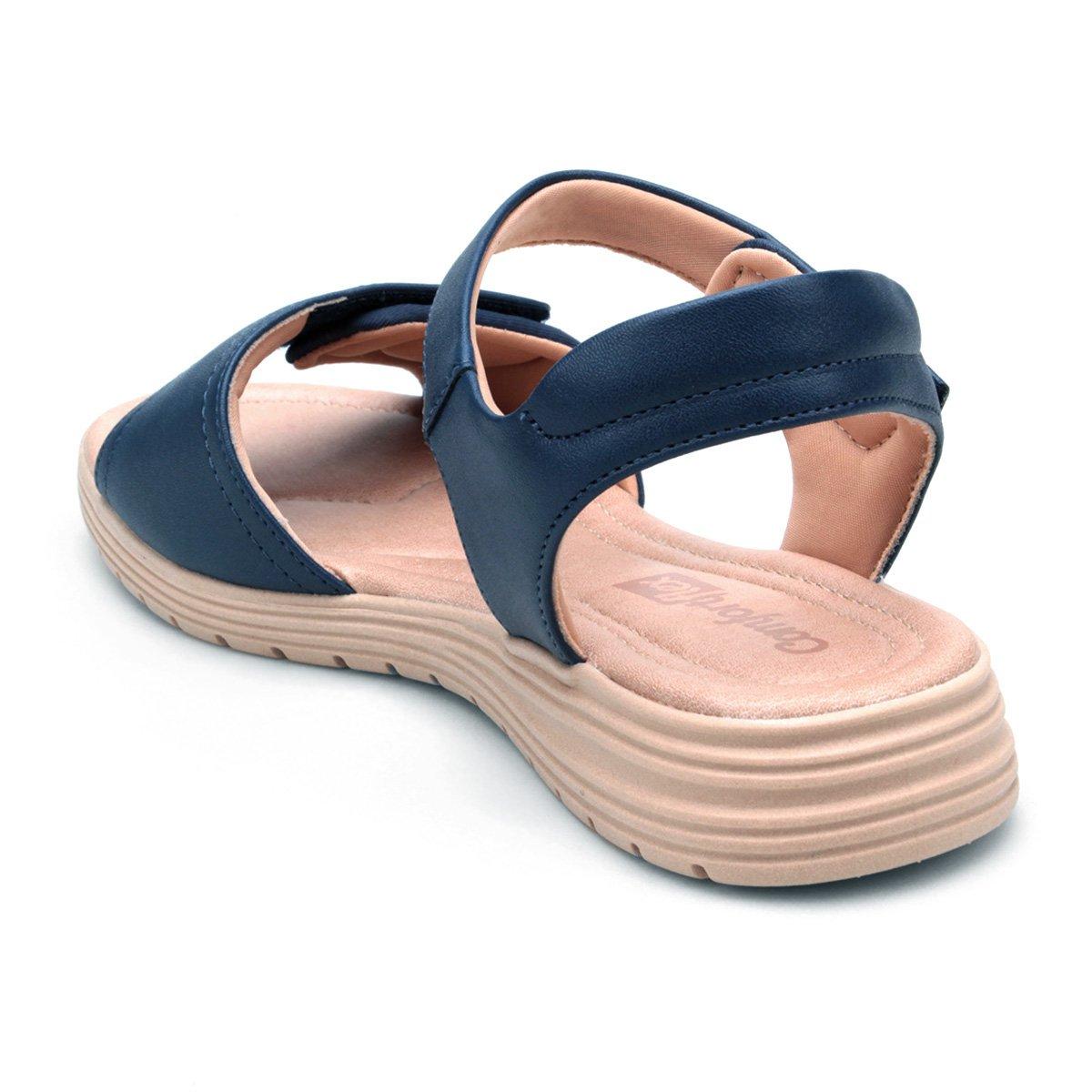 Sandália Sandália Velcro Papete Comfortflex Marinho Comfortflex Feminina 0rxRgq0w