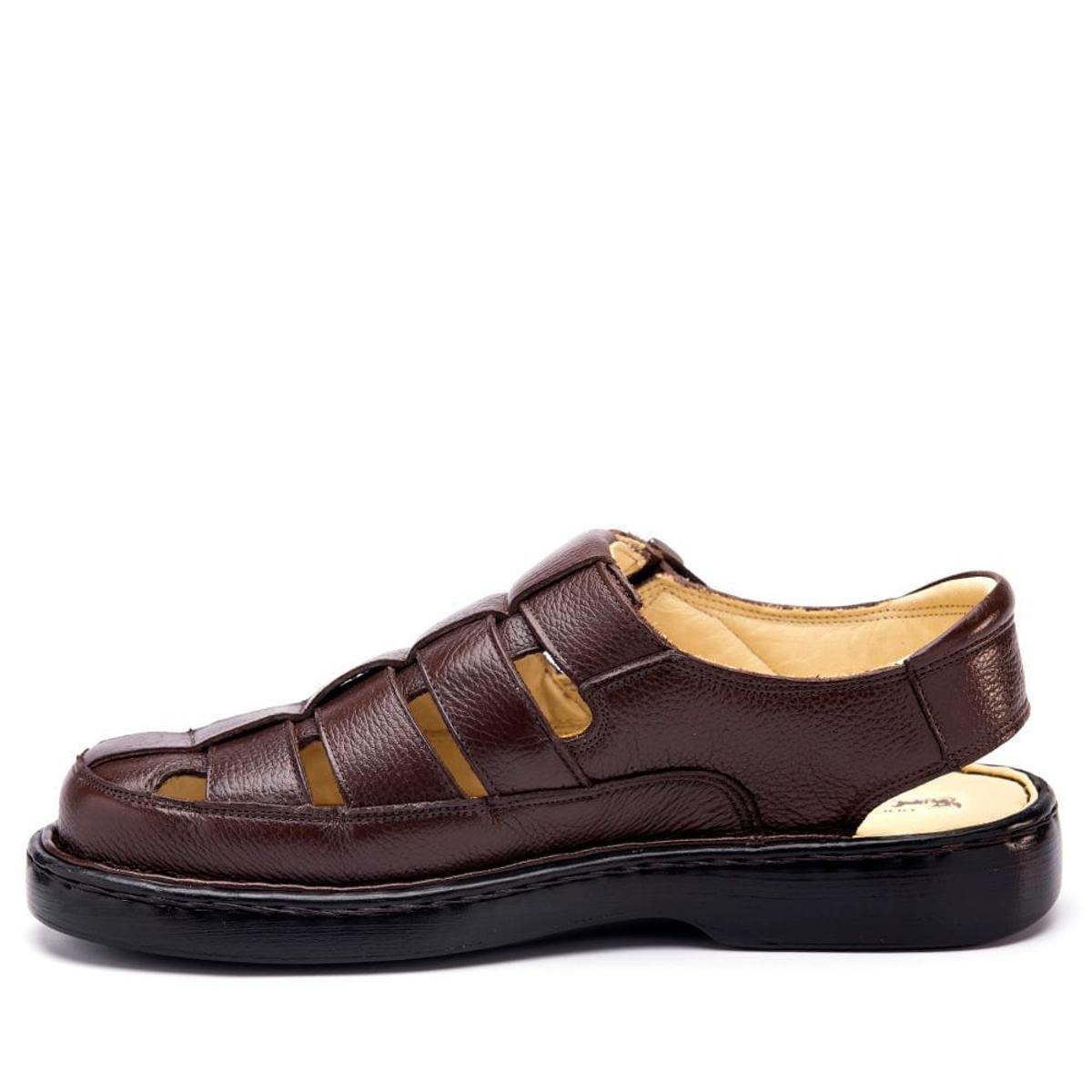 0b1d647187 Sandália Couro 321 Floater Doctor Shoes Masculina - Café - Compre ...