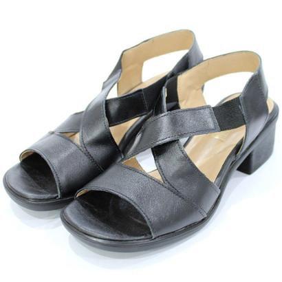 Sandália Couro Dalí Shoes Maxicomfort Feminina-Feminino