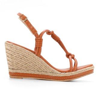 Sandália Couro Shoestock Corda Nó Feminina