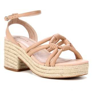 Sandália Couro Shoestock Meia Pata Corda Feminina
