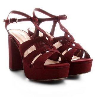 Sandália Couro Shoestock Meia Pata Curvas Feminina