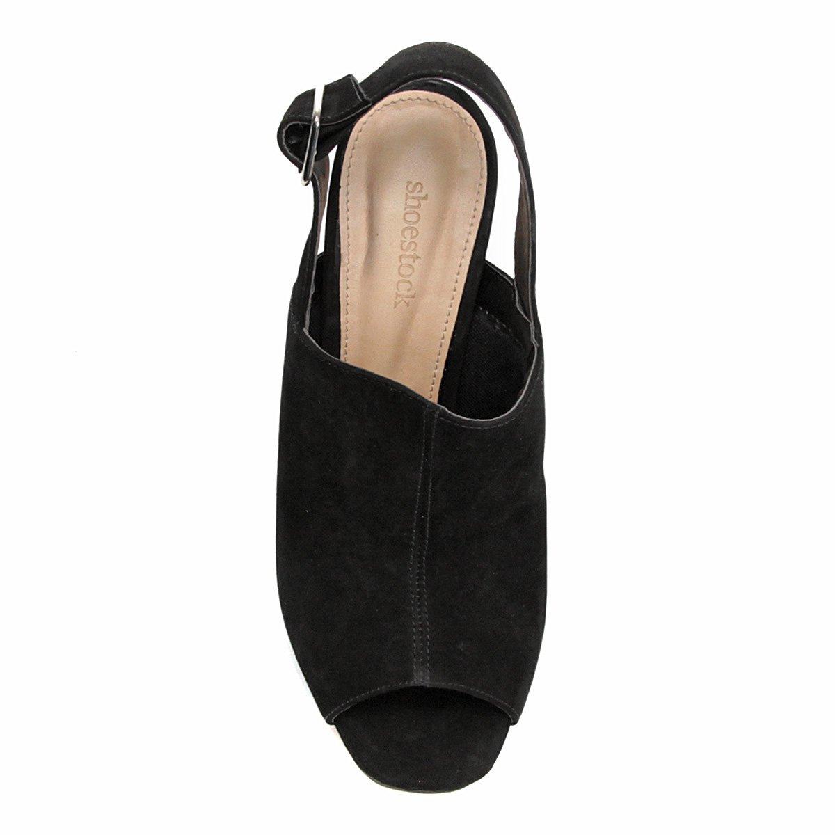Preto Pata Shoestock Sandália Shoestock Feminina Sandália Couro Couro Preto Feminina Pata Meia Meia ZwHg6q