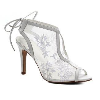 Sandália Couro Shoestock Noiva Lace Feminina