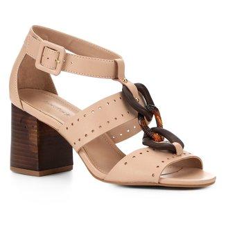 Sandália Couro Shoestock Organic Chain Feminina