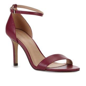 Sandália Couro Shoestock Salto Alto Feminina