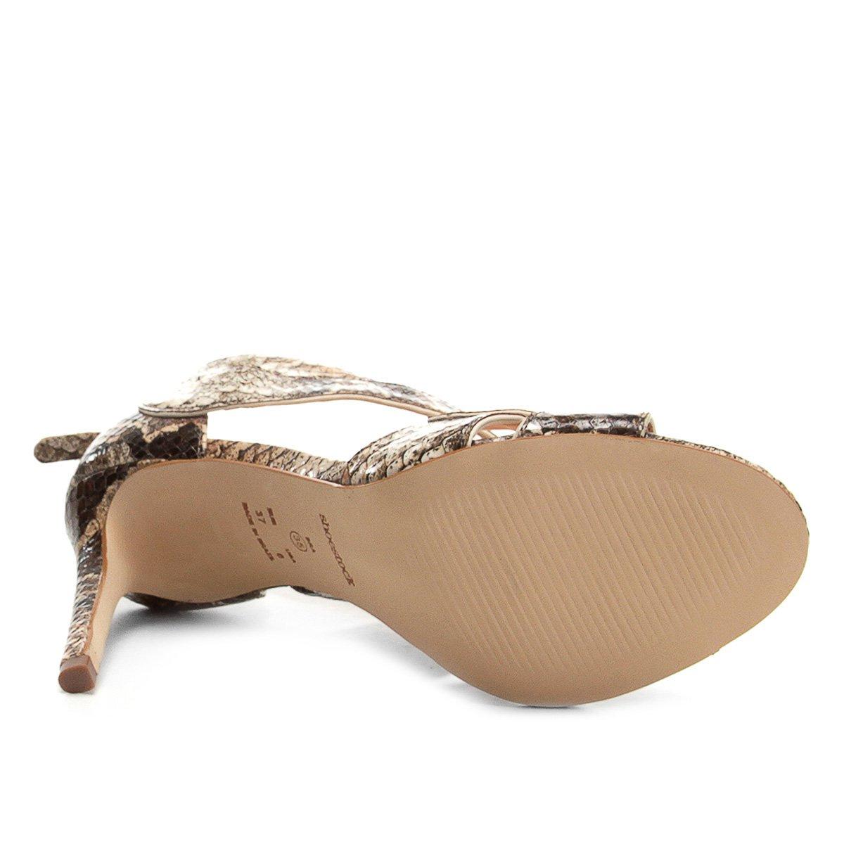 Couro Sandália Alto Sandália Ondas Shoestock Cobra Shoestock Feminina Shoestock Salto Alto Ondas Cobra Couro Feminina Couro Sandália Salto CnIPq