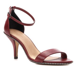 Sandália Couro Shoestock Salto Fino Glam Feminina