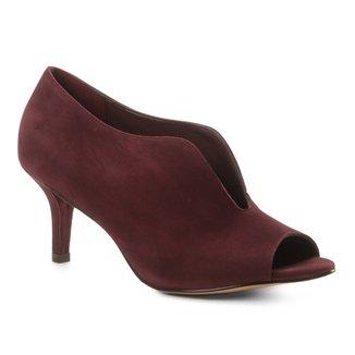 Sandália Couro Shoestock Salto Fino Vamp Feminina