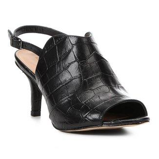 Sandália Couro Shoestock Salto Fino Western Feminina