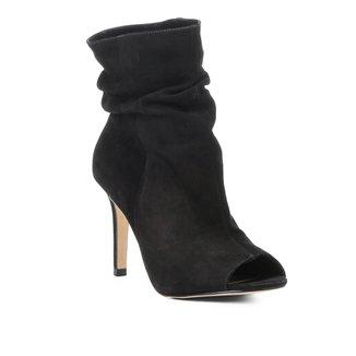 Sandália Couro Shoestock Slouch Salto Fino Feminina