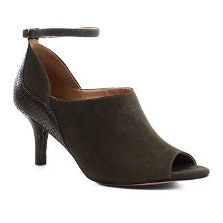 Sandália Couro Shoestock Snake Curves Feminina