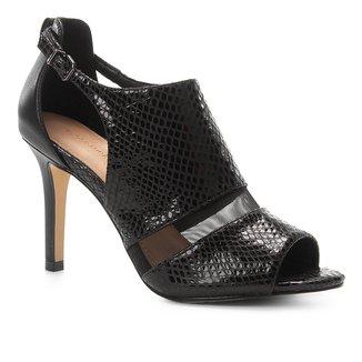 Sandália Couro Shoestock Snake Tela Feminina