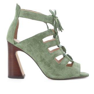 Sandália Couro Shoestock Tassel Recortes Feminina