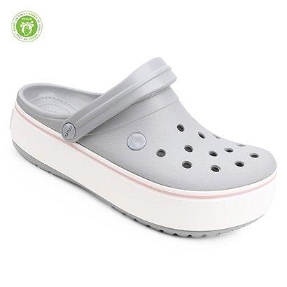 Sandália Crocs Crocband Platform Clog Feminina-Feminino