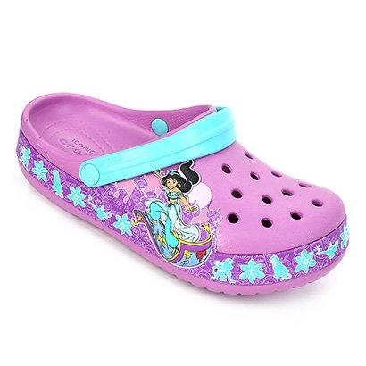 Sandália Crocs Infantil Fun Lab Princess Jasmine Band Clog