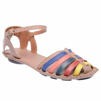 Sandália D&R Shoes Couro Feminina