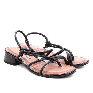 Sandália Dakota Multi Tiras Salto Baixo Feminina