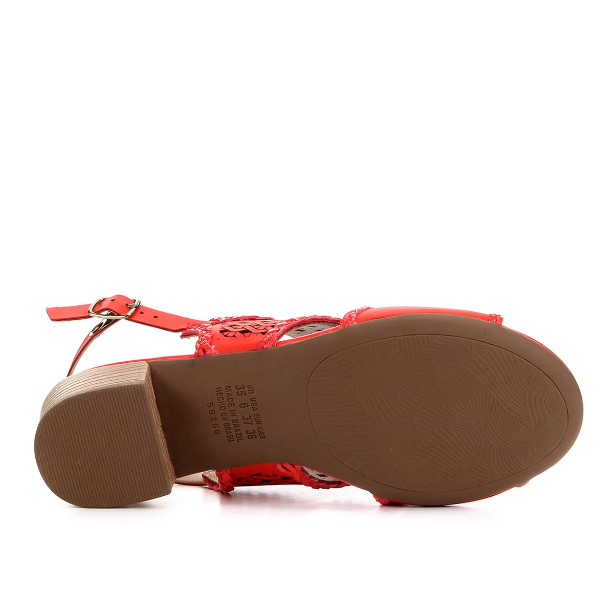 Sandália Dakota Salto Grosso Baixo Laser Feminina - Vermelho