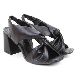 Sandália Dakota Tiras Dobradas Salto Bloco Feminina