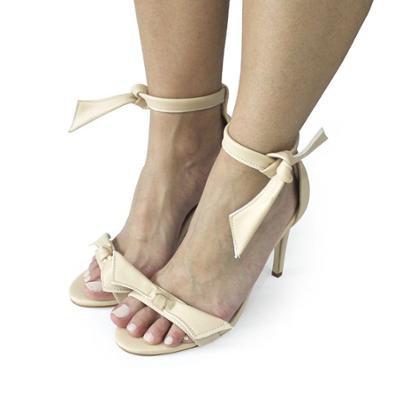 Sandalia Dali Shoes Salto Alto Fino Amarração Feminina-Feminino