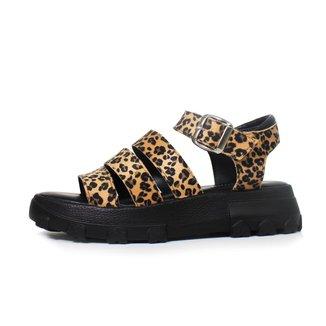 Sandália Damannu Shoes Ellie Onça Feminina
