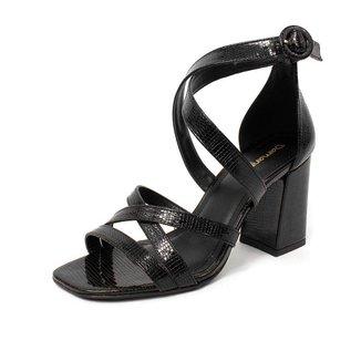 Sandália Damannu Shoes Metalizada Kayla Feminina