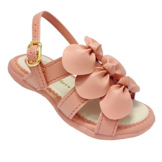 Sandalia De Menina Com Laços Infantil Kidy 002-0731-3242
