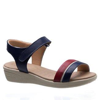 Sandália Doctor Shoes  Couro Feminina