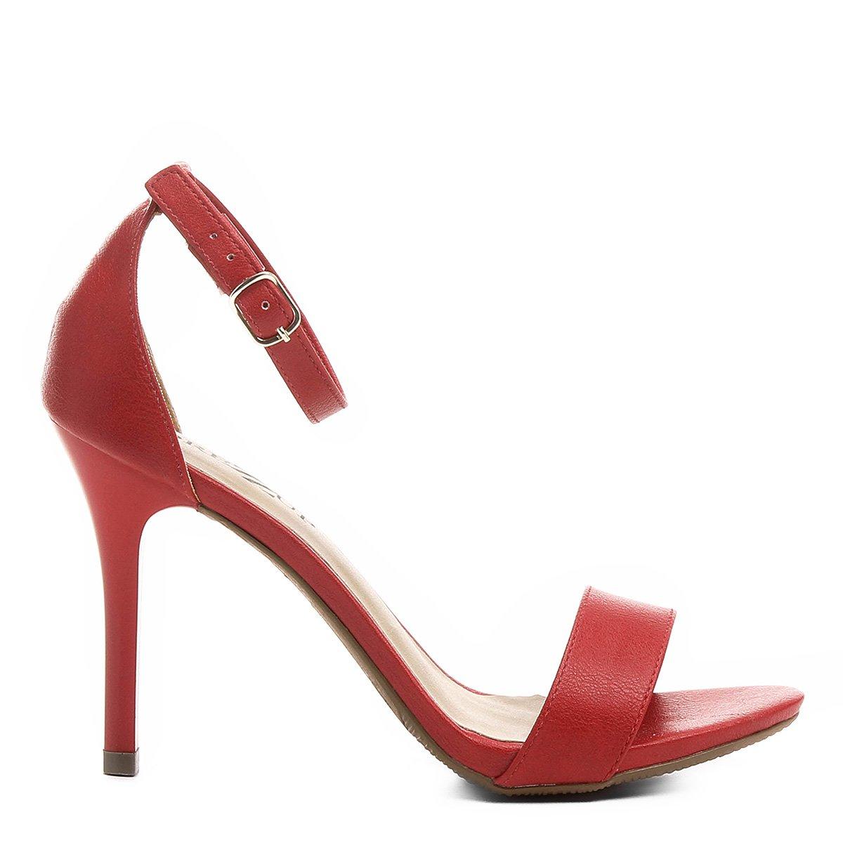 Feminino Vermelho Alto Sandália Drezzup Vermelho Fino Alto Salto Fino Feminino Drezzup Sandália Salto Sandália na71Awqf