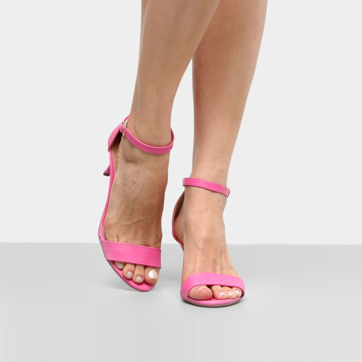 Feminina Pink Drezzup Sandália Fino Salto Sandália Drezzup 4vqqwUX